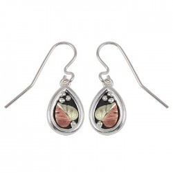 Black Hills Antiqued Teardrop Sterling Silver Earrings