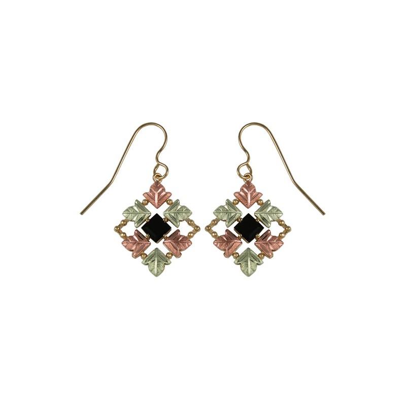 10k Black Hills Gold Onyx Earrings Blackhillsgold Direct