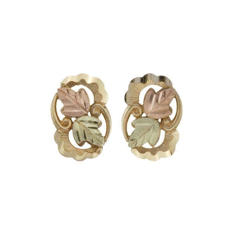 10k Black Hills Gold Leaves Earrings Blackhillsgold