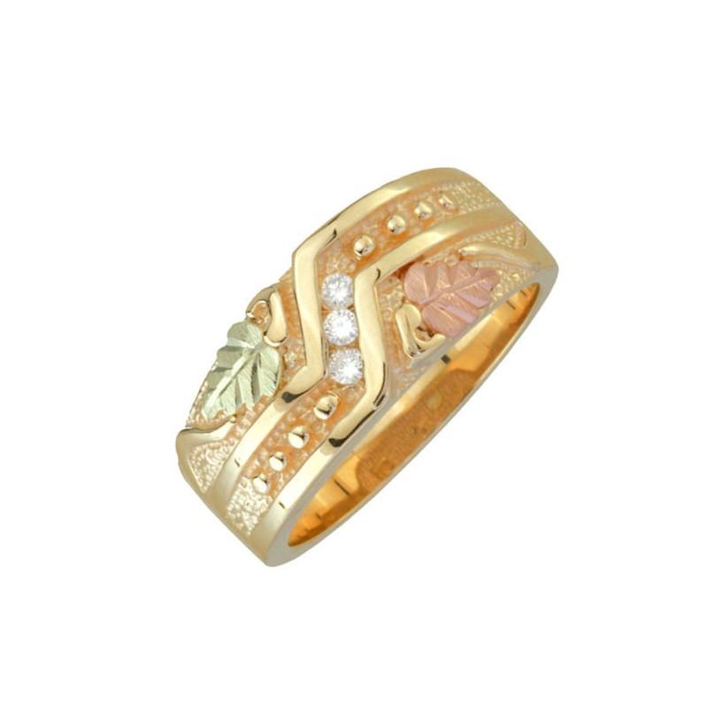 Black Hills Gold 09Tw Diamond La s Wedding Ring BlackHillsGold Direct