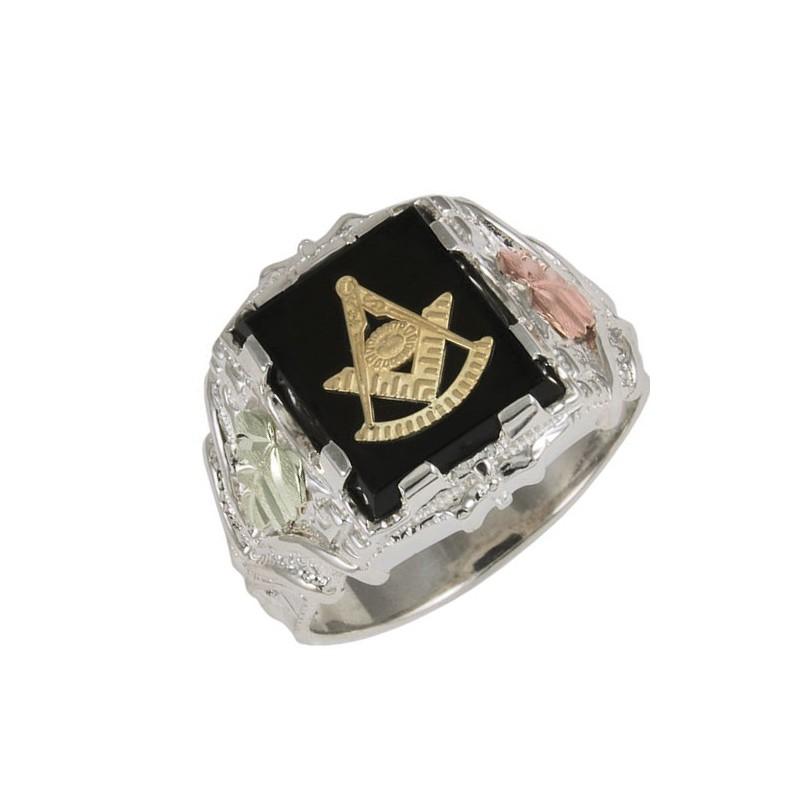 Black Hills Sterling Silver Masonic Past Master Ring
