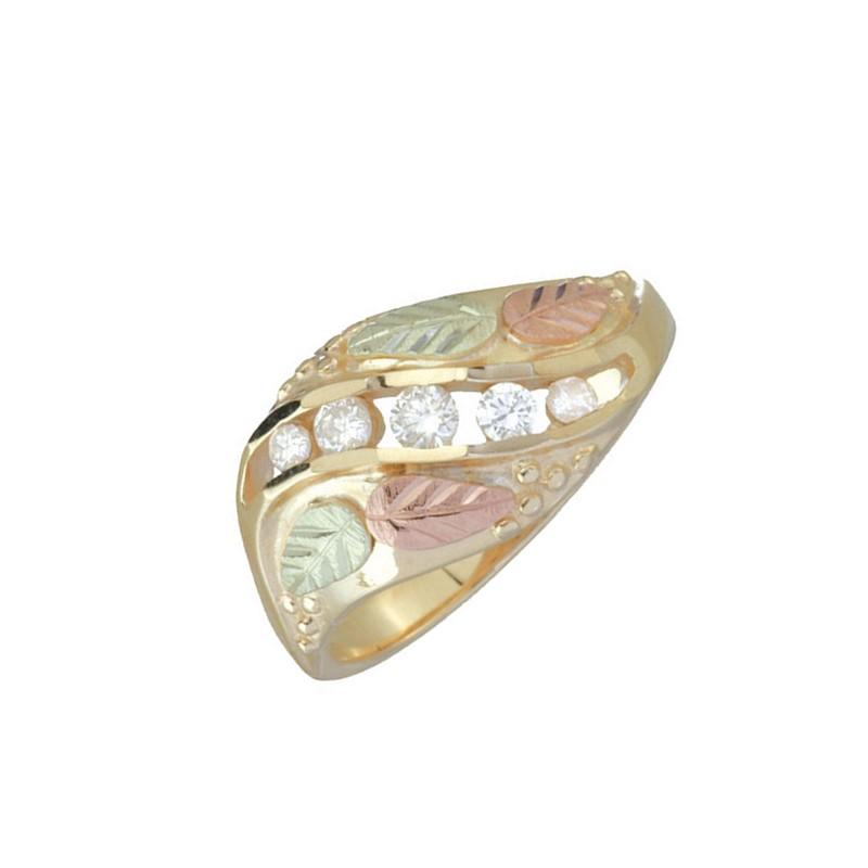 10K Black Hills Gold Diamond La s Diamond Ring BlackHillsGold Direct