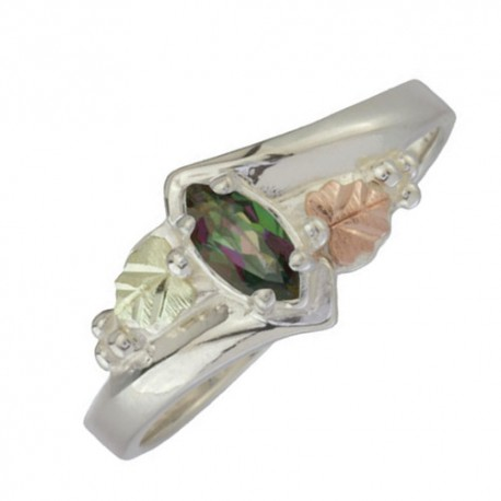 Black Hills Sterling Silver Mystic Fire Womans Ring