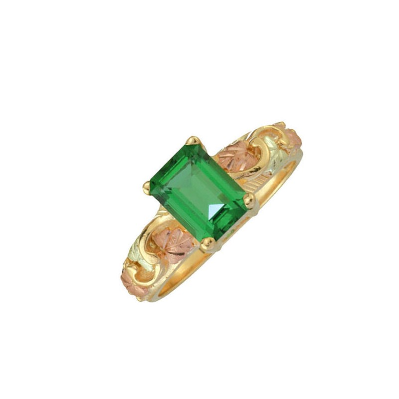 10k Black Hills Mt St Helens Emerald Womans Ring