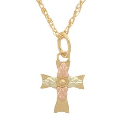 10K Black Hills Gold Inspirational Cross Pendant