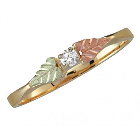 10K Black Hills Gold Ring with 0.03TW Diamond