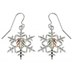 Black Hills Sterling Silver Snowflake Earrings