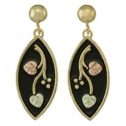 10K Black Hills Gold Post Earrings