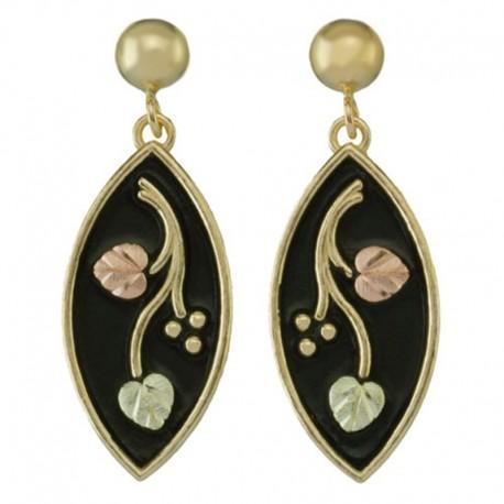 10K Black Hills Gold Earrings