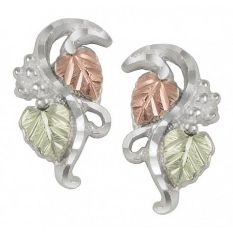 Black Hills Gold Sterling Silver Earrings