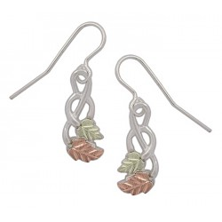 Black Hills Gold Sterling Silver Earrings