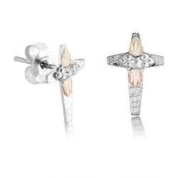 Landstrom's® Black Hills Gold on Sterling Silver Cross Earrings