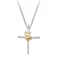 Landstrom's® Black Hills Gold Sterling Silver Cross Pendant with Dove
