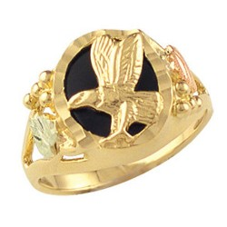Landstrom's® Black Hills Gold Onyx Eagle Ring