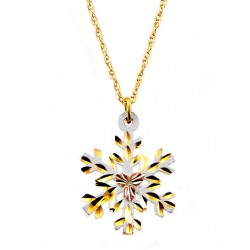 Landstroms Black Hills Gold White Powder Coated Snowflake Pendant