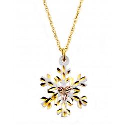 Landstroms Black Hills Gold Snowflake Pendant