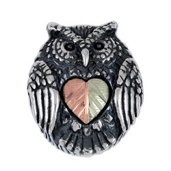 Black Hills Gold Sterling Silver Owl Memory Bead