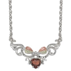 Black Hills Gold Sterling Silver Garnet Necklace