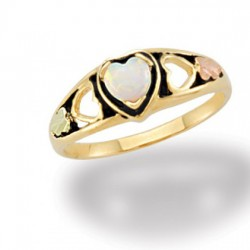 Lab. Opal Black Hills Gold Ring