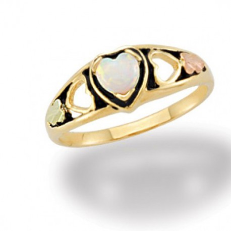BLACK HILLS GOLD LAB. OPAL LADIES RING