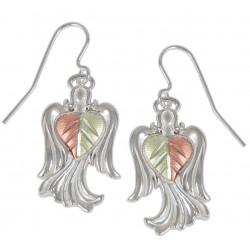 Black Hills Gold Sterling Silver Angel Earrings
