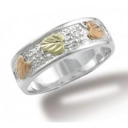 Ladies Sterling Silver Black Hills Gold Band Ring By Landstroms