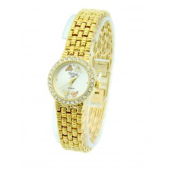 Black Hills Gold Tone Ladies Watch with Crystal