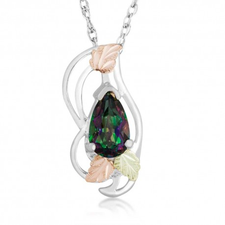 Black Hills Gold on Silver Mystic Fire Topaz Pendant