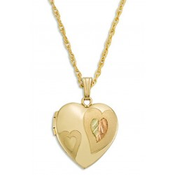 Black Hills Gold Heart Locket By Landstroms
