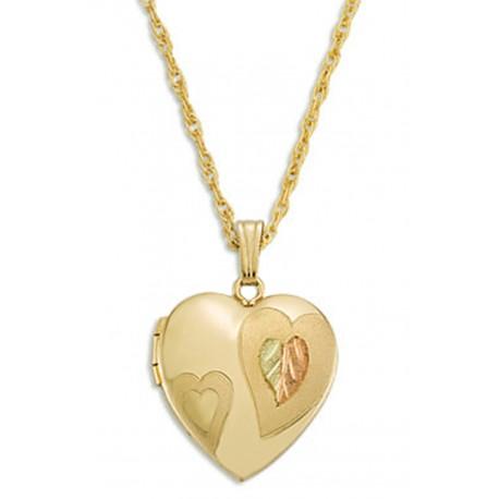 Black Hills Gold Heart Locket By Landstroms
