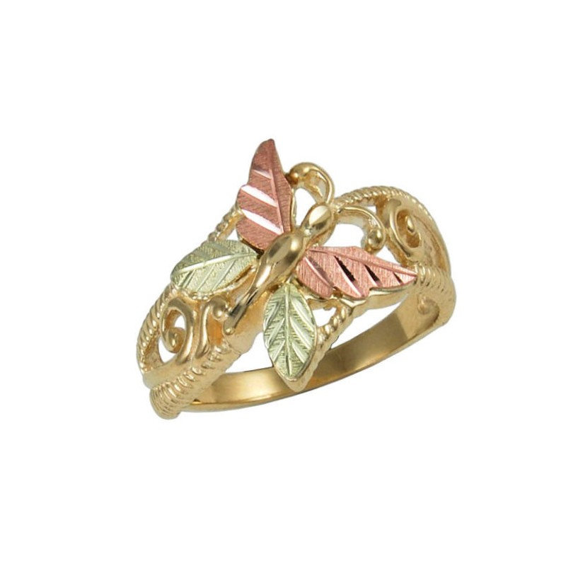 10K Gold Butterfly Ring - BlackHillsGold.Direct - Klugex
