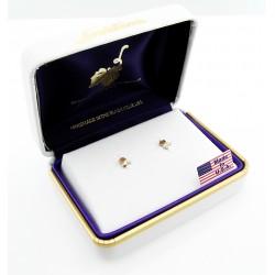 Small Black Hills Gold 10K Rose Earrings