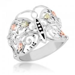 Landstrom's® Black Hills Gold on Sterling Silver Butterfly Ring