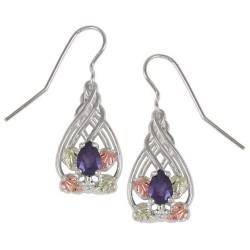 Black Hills Sterling Silver Amethyst Earrings