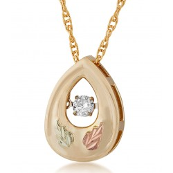 10K Black Hills Gold Pendant with Diamond By Landstroms