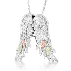 Landstrom's® Black Hills Gole on Sterling Silver Angel Wings Necklace
