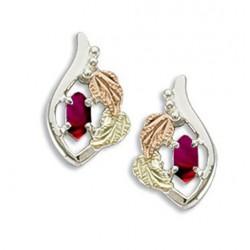 Landstrom's(®) Black Hills Gold on Sterling Silver Birthstone Earrings