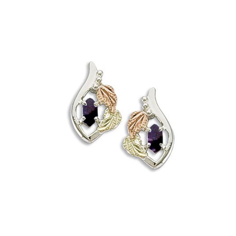 Landstrom S Black Hills Gold On Sterling Silver Birthstone Earrings