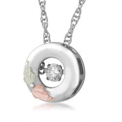 Landstrom's®  Black Hills Gold on Sterling Silver Glimmer Pendant w/ .10 CT Diamond