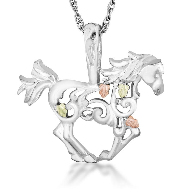 Black hills gold sterling silver horse pendant necklace black hills gold sterling silver horse pendant necklace aloadofball Gallery