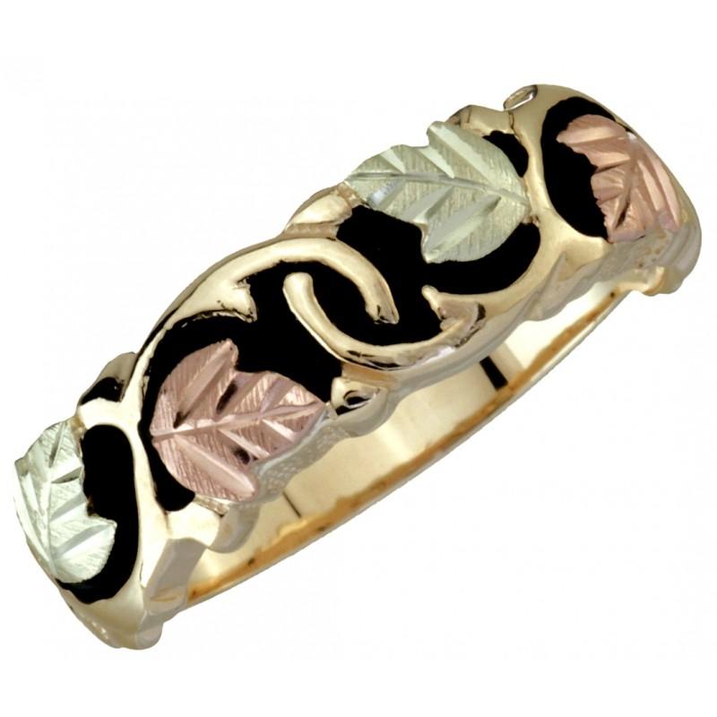 black hills gold antiqued wedding ring blackhillsgold direct