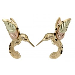 10K BLACK HILLS GOLD HUMMINGBIRD EARRINGS