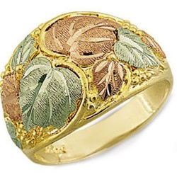Landstrom's® Stunning Black Hills Gold Tri-Color Men's Ring