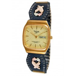 Black Hills Gold Black Powder Mens Watch with Eagle