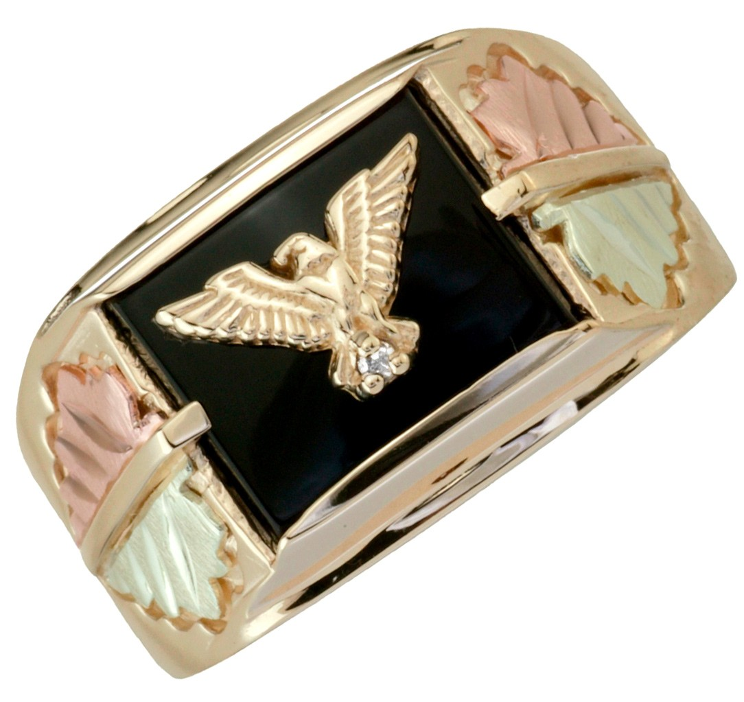f4cc0820fc03e Black Hills Gold Mens Eagle Ring - The Gold Picture