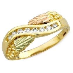 Black Hills Gold .16Tw diamond Ring By Landstroms