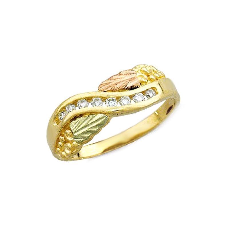 Black Hills Gold 16tw Diamond Ring By Landstroms
