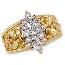 Landstrom's® Black Hills Gold .42Tw Diamond Ring With 12K Gold Leaves