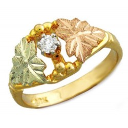 Black Hills Gold .10Tw Diamond Ring With 12K Gold