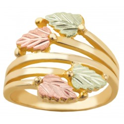 Landstrom's® Tri-color Black Hills Gold Ladies Ring